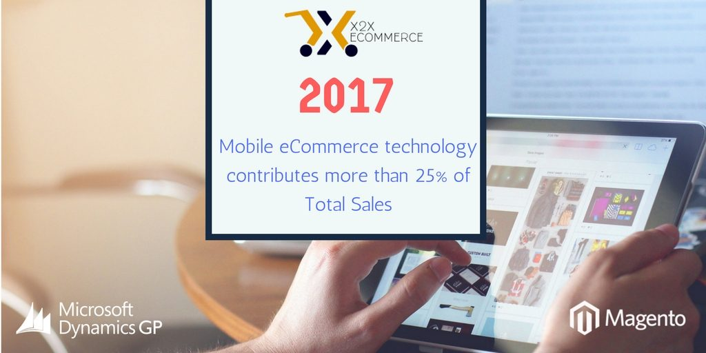 Mobile eCommerce technology contributes more than 25% of Total Sales